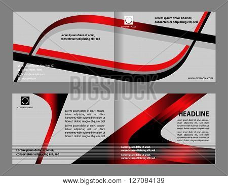 brochure folder leaflet. modern brochure design template