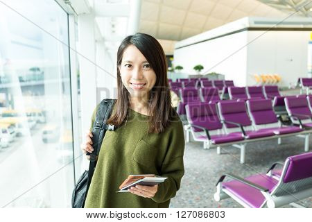 Woman fo travel in airport