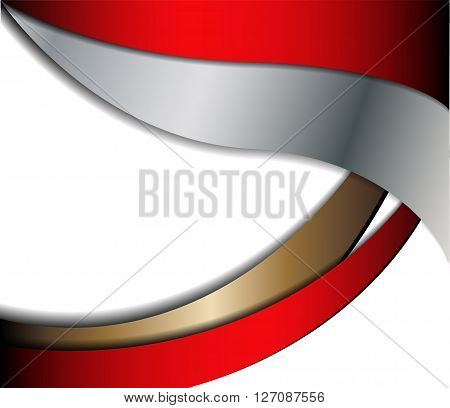 Red background curve line on black background space shadow overlap and dimension modern texture pattern for text and message website design