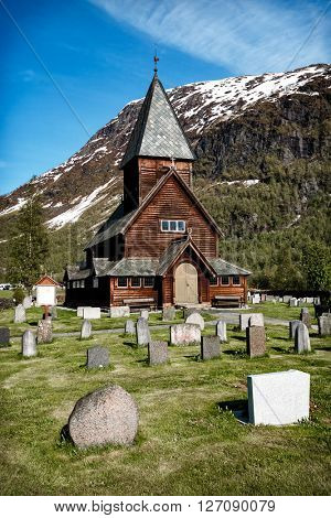 Norway - Roldal Stave Church (Roldal stavkyrkje). Church of the end of the 13th century