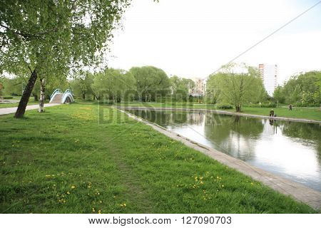 image of many spring in city park