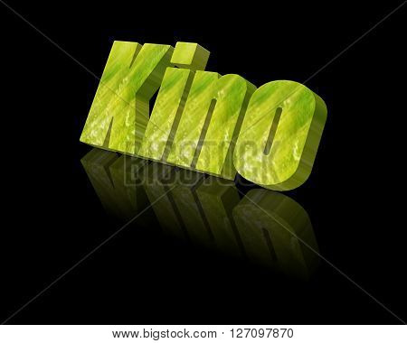 Cinema / Kino - 3d word with reflection !