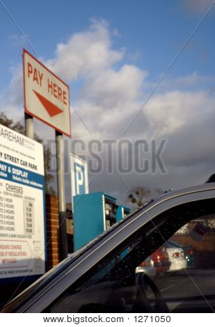 Pay Here Parking Sign