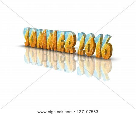 sommer 2016 -  3d word with reflection !
