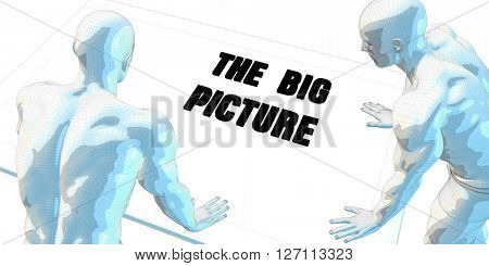 The Big Picture Discussion and Business Meeting Concept Art 3D Illustration Render