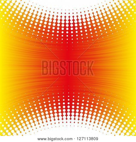 Abstract yellow - orange background with lines and dots