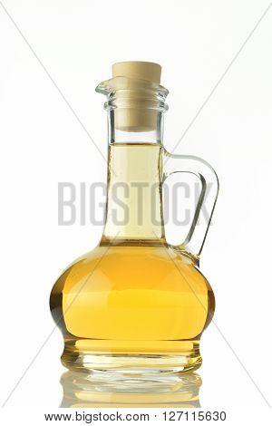 Vinegar Bottle Shot in Studio on White Background