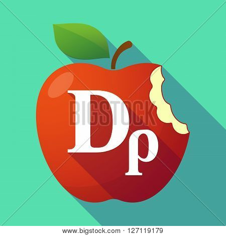 Long Shadow Red Apple With A Drachma Currency Sign