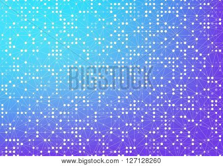 abstract vector triangulated background. Connected lines and dots on colorful background. Design element in vector.