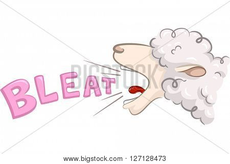 Illustration of a Sheep Bleating