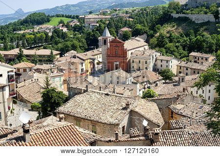 Pennabilli Montefeltro (Urbino Marches Italy) view of the old town