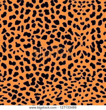 Vector Illustration of Leopard Print Seamless Pattern. Wild texture for Design, Website, Background, Banner. Jaguar Template. Natura Wallpaper