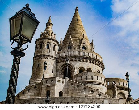 Fisherman`s Bastion in Budapest at Old Town district ** Note: Soft Focus at 100%, best at smaller sizes
