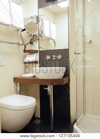 bathroom in five star hotel Riga Latvia Europe