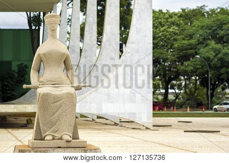 Brasilia, Brazil - November 18, 2015: Federal Supreme Court (Supremo Tribunal Federal) building in Brasilia, capital of Brazil.