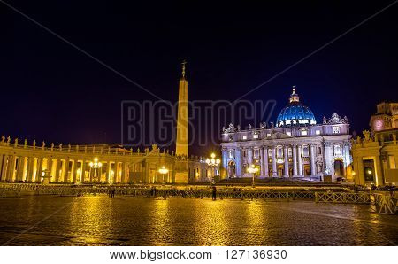 View of St. Peter's Square in Vatican City - Rome