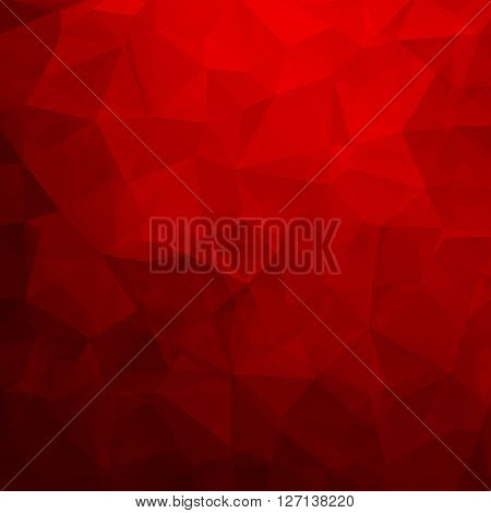 Abstract geometric triangle background. Vector illustration for modern design. Red colors. Aqua water ice crystal. Bright poster. Decorative graphic mosaic texture. Retro wallpaper.