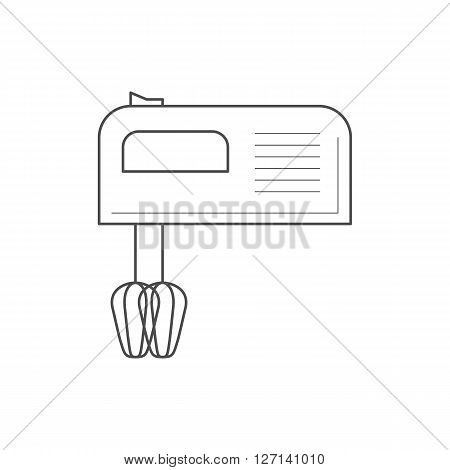 Kitchen mixer icon. Thin line kitchen mixer icon. Kitchen appliance vector icon.