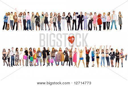 2 große Gruppen. Gruppen von Unternehmen-Jugend-Serie