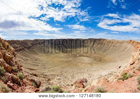 View Of The Meteor Crater, Flagstaff, Arizona