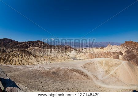 View of the Zabriskie Point Death Valley National Park