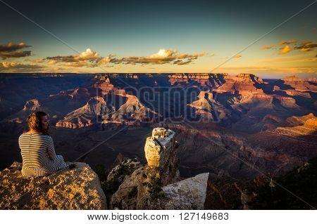 Grand Canyon At Sunset Views From Yaki Point, Arizona