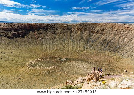 View of the Meteor Crater Flagstaff Arizona