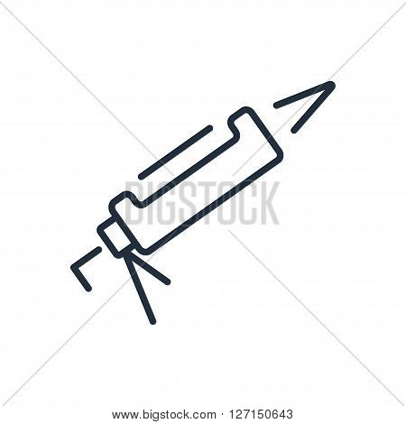 Silicone glue gun icon. Vector illustration. Vector symbols.