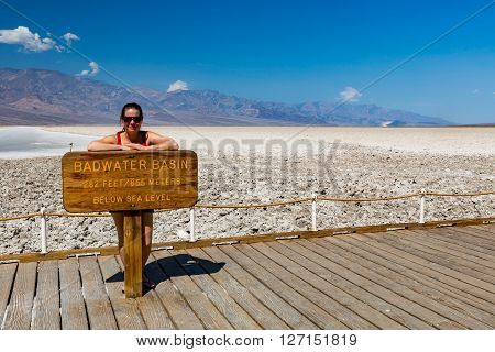 View of Badwater Basin Death Valley National Park poster