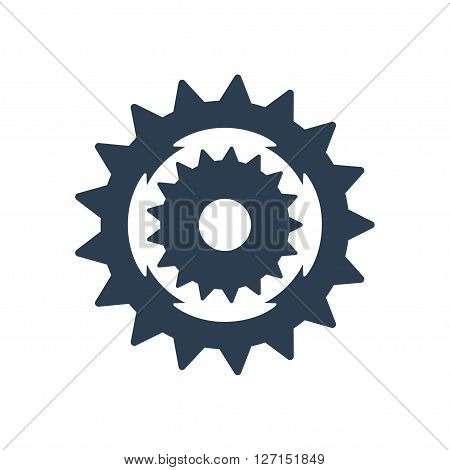 Sprocket bike icon. Vector illustration. Vector symbols.