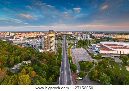 BRATISLAVA, SLOVAKIA - APRIL 22, 2016: View of Petrzalka city district in Bratislava, Slovakia on April 22, 2016.
