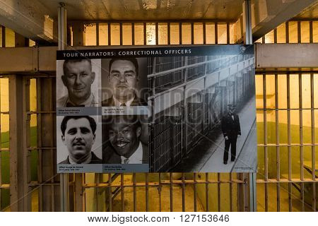 San Francisco, California - September 17: Interior Views Of The Alcatraz Island In San Francisco On