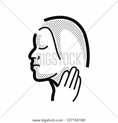 Otolaryngology Sore throat icon vector design EPS10.