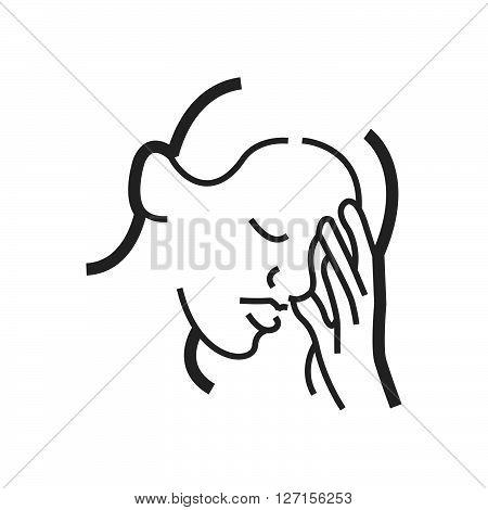 Otolaryngology Coughing icon design vector design EPS10.