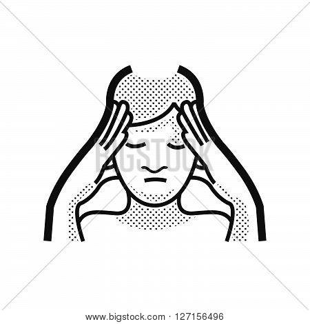 Otolaryngology headache icon, vector design support eps 10.