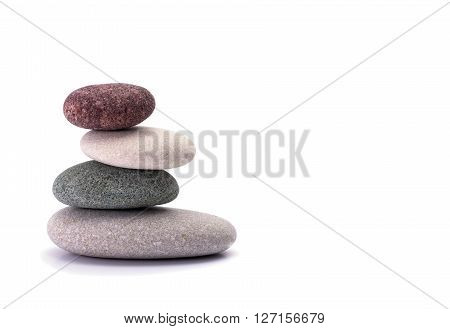 Spa stones isolated on a white background