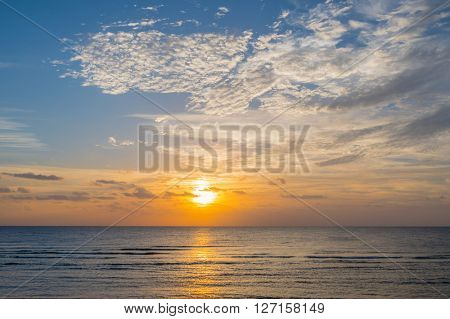 Sun rising in Marsa Alam, Egypt