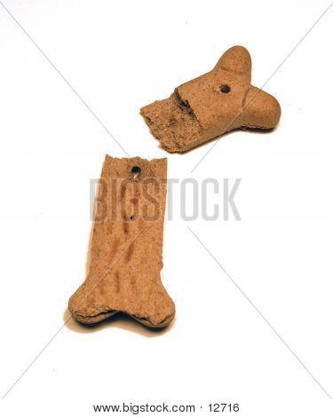 broken dog bone snack poster