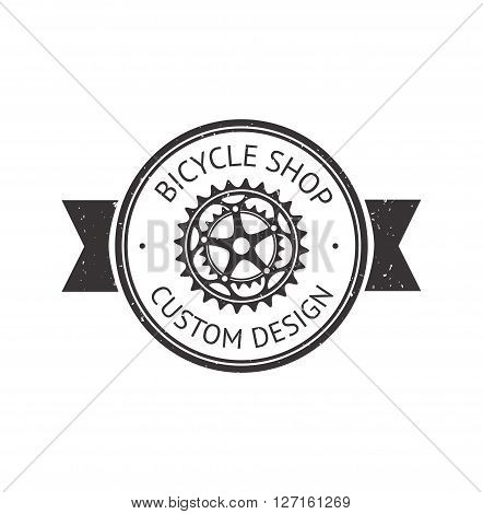 Bike badge outline vector illustration. Bike badge  icon  isolated. Bike logo symbol. Bike  logo for bicycle design. Training concept bike badge isolated logo. Bicycle badge vector isolated