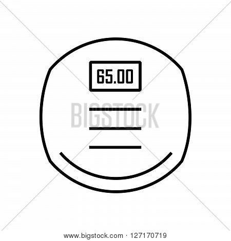 line icon Medical Device Icon Bathroom scales DIGITAL