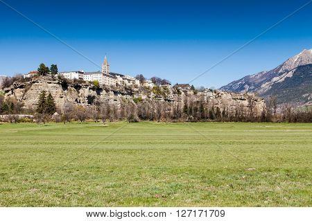 The small vilage Embrun in Hautes-Alpes France