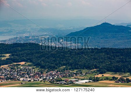 Views From To Mountain Lagern To Zurich