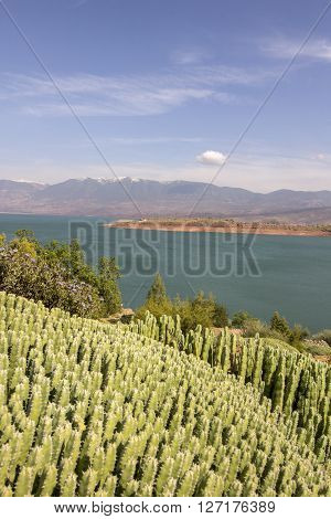 View over Barrage Bin El-Ouidane lake high Atlas Morocco. ** Note: Soft Focus at 100%, best at smaller sizes
