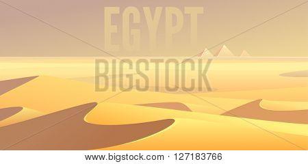 Egyptian pyramids Sahara desert landscape