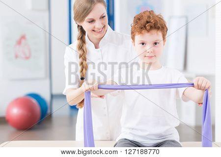 Children Physiotherapy In A Rehabilitation Clinic
