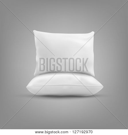 Two pillow isolated on a gray background