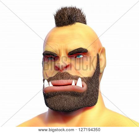 3D Isolated Orc Illustration