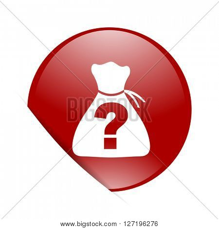 riddle red circle glossy web icon