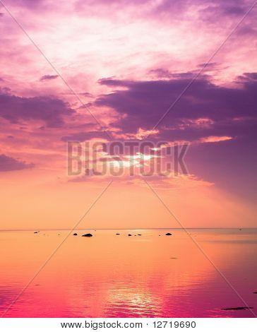 Vague Pink Sunset