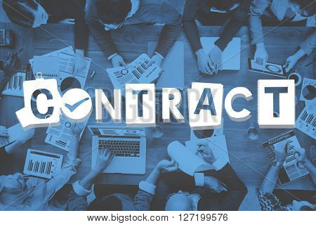 Contract Agreement Deal Commitment Covenant Concept poster